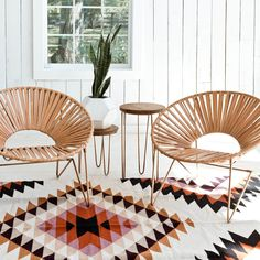 Check out the Aldama Chair - Copper & Natural in Outdoor & Patio Furniture, Outdoor Deck & Lounge Chairs from The Citizenry for Living Room Inspiration, Interior Design Inspiration, Home Decor Inspiration, Deco Pastel, Acapulco Chair, Deco Nature, Deco Boheme, Modern Chairs, Home And Living