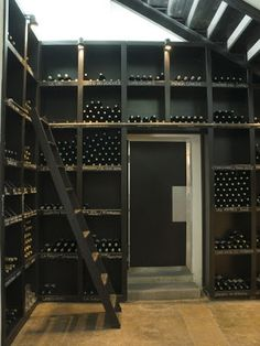 Wine Room in black and timber