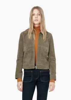 Flap-pocket suede jacket - Jackets for Women   MANGO USA