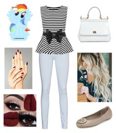 """Untitled #391"" by sehnleseh ❤ liked on Polyvore featuring 7 For All Mankind, WearAll, Tory Burch and Dolce&Gabbana"