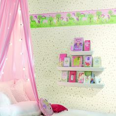 Magic Unicorn Border. Young at Heart book by York Wallcoverings.