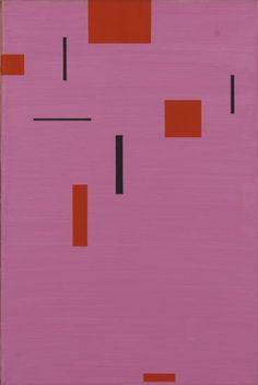 Friedrich Vordemberge-Gildewart Composition No. 204 (1954-1955) oil on canvas 50 x 33.2 cm (ref:FVG0185)