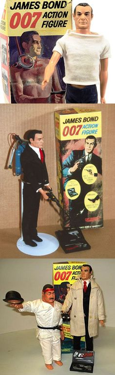 1964 James Bond 007 & Oddjob action figures