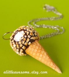 Hey, I found this really awesome Etsy listing at https://www.etsy.com/listing/189448603/drumstick-jewelry-ice-cream-necklace-ice