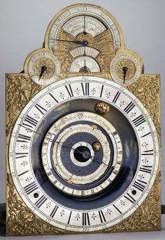 Astronomical clock made by Edward Cockey, Warminster, Wiltshire, 1705-1715.