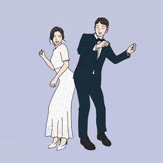 상큼발랄귀욤뽀짝 커플 . . . . . #일러스트 #일러스트레이션 #그림 #드로잉 #라인일러스트 #illustration #illust #drawing #artwork #daily #일상#웨딩#결혼#웨딩일러스트#결혼일러스트#결혼그림#그림선물 #wedding #ootd#daily#기념일선물 Cute Couple Art, Cute Couples, Couple Illustration, Illustration Art, Cartoon Profile Pictures, Cup Art, Korean Couple, Couple Drawings, Korean Artist