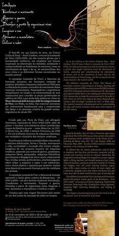 Leonardo da Vinci: a Natureza da Invenção - Cultura - SESI SP