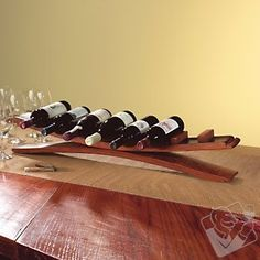 Arched Oak Stave Wine Rack at Wine Enthusiast - LOVE