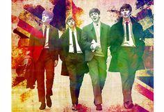 Die Beatles Beatles John Lennon Paul McCartney von PoolPartyPopArt