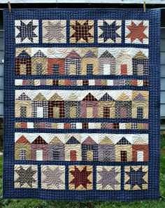 ❤ =^..^= ❤  Mountain Home Quilts: Homespun Houses