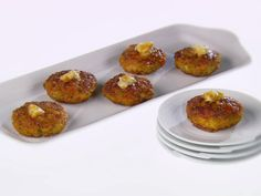 Mini Shrimp Cakes with Ginger Butter recipe from Giada De Laurentiis via Food Network