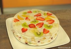 Studený ovocný koláč No Bake Cookies, Cake Cookies, No Bake Cake, Czech Desserts, No Bake Desserts, Ice Cream Candy, Czech Recipes, Cookie Designs, Desert Recipes