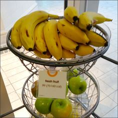 An in-Mall bakery and Snackery caters to the fresh-made and fresh-fruit tastes of its better clientèle. Fruit Calories, Basket Labels, Calorie Counting, The Fresh, Fresh Fruit, Catering, Health And Beauty, Bakery, Banana