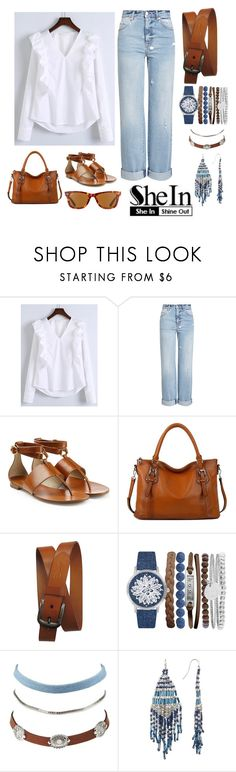 """RUFFLED BLOUSE"" by mynextlife ❤ liked on Polyvore featuring WithChic, Alexander McQueen, Michael Kors, AmeriLeather, Jessica Carlyle, Charlotte Russe, Joe Fresh and Ray-Ban"