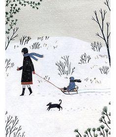 Perfect Winterday! ❄️ illustration Yelena Bryksenkova. Seen on HappyMakersBlog.com