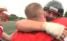 U.S. Airman Disguises Himself as Football Player to Surprise Son During His Game