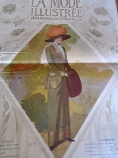 ANCIENNE REVUE LA MODE ILLUSTREE  AVEC PLANCHE PATRONS OCTOBRE 1910 N°43  | Crafts, Sewing, Other Sewing | eBay!