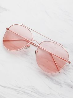 Online shopping for Top Bar Aviator Sunglasses from a great selection of women's fashion clothing & more at MakeMeChic. Round Lens Sunglasses, Cute Sunglasses, Sunglasses Online, Cat Eye Sunglasses, Mirrored Sunglasses, Sunglasses Women, Sunnies, Fake Glasses, Fashion Eye Glasses