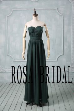 emerald floor length bridesmaid dress