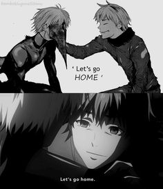 """""""Let's go home, Kenaki"""" R.I.P our little angel Hide. You were the sunshine in this anime ugh :'c"""