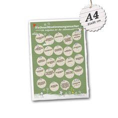 Adventskalender - Adventskalender Weihnachtsstimmungsmacher A4 klein - ein Designerstück von Eine-der-Guten-Illustration bei DaWanda