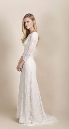 Pretty, modest wedding gown