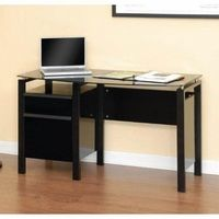 Studio RTA - Lake Point Contoured Desk in Black/Black - 408945