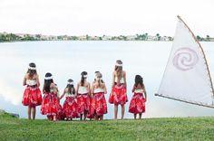 Moana Party - Custom made hula attire and Moana Decor Moana Sail
