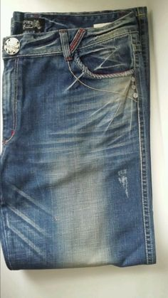 Men's Jean Denim 44 x 34 Loose Fit Big & Tall Red Pepper Japan & Co Premium #RedPepper #Relaxed