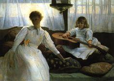 TICMUSart: Idle Hours - Julian Alden Weir (1888) (I.M.)
