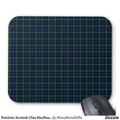 Patriotic Scottish Clan MacKenzie Plaid Tartan Mouse Pad
