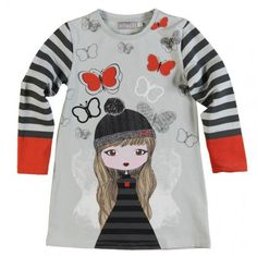 VESTIDO PUNTO EL�STICO Elegant Girl, Disney Shirts For Family, Baby Knitting Patterns, Printed Tees, Kids Girls, Kids Outfits, Kids Fashion, Clothes, Victoria