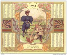 Calendario dei ricordi anno 1951