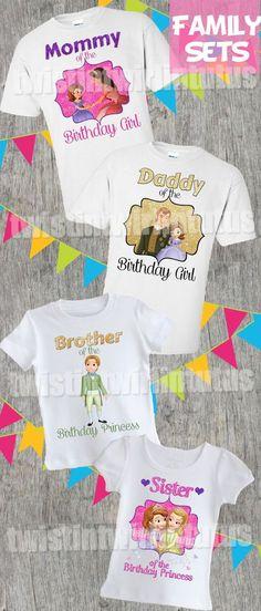 Sofia the First Family Shirt Set | Sofia the First Birthday Shirts | Sofia the First Birthday Party Ideas | Princess Sofia Family Shirts | Princess Sofia Birthday Shirts | Princess Sofia Birthday Party Ideas | Twistin Twirlin Tutus #sofiathefirstbirthday