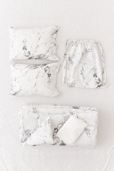 Urban Outfitters Marble Comforter Snooze Set