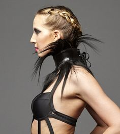 Human hair fringe collar