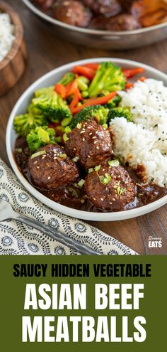 Saucy Asian Hidden Vegetable Beef Meatballs - you will love these tender juicy meatballs with hidden vegetables in a flavour-packed sauce.  Gluten Free, Dairy Free, Slimming World and Weight Watcher friendly Hidden Vegetable Recipes, Hidden Vegetables, Healthy Vegetables, Slimming World Beef Recipes, World Recipes, Actifry Recipes, Cooking Recipes, Healthy Recipes, Free Recipes