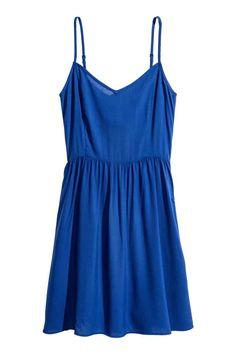 Krátké šaty - Modrá - ŽENY | H&M CZ 400kč