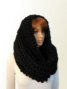 Huge Infinity Scarf Outlander Inspiried Cosplay Blanket Scarf Black Festival Scarf Squishy Knit Crochet Oversize Wrap ready to ship - huge yarn blankets Chunky Infinity Scarves, Chunky Knit Scarves, Oversized Scarf, Alpaca Scarf, Hooded Scarf, Crochet Fall, Knit Crochet, Outlander Clothing, Grey Scarf