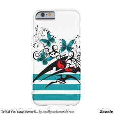 Tribal Yin Yang Butterflies,aqua Barely There iPhone 6 Case