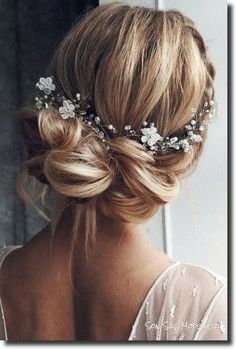 Most Popular Bridal Hairstyles of 2018 Best Wedding Hairstyles, Bridal Hairstyles, Easy Hairstyles, Wedding Updo, Wedding Makeup Tips, Short Wedding Hair, Trendy Wedding, Hairstyles For School, Pictures Images