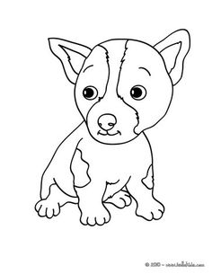 Puppy Coloring Page. More Animals And Dog Coloring Sheets On Hellokids.com!
