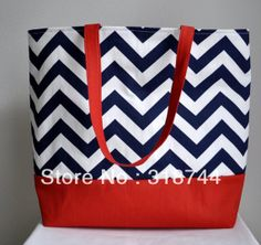 Large Nautical tote Beach Bag - pic only