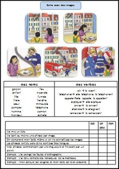 Ecrire avec des images séquentielles French Resources, Writing Resources, School Resources, Writing Activities, Writing Prompts, French School, French Class, How To Speak French, Learn French