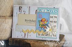 "Bingo ""Happy Birthday Sweet Boy"" Paper Doll Card"