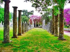 ~ Spring View of Ancient Olympia ~ (pref of Ilia) Places In Greece, Homeland, Beautiful Places, Past, Sidewalk, The Incredibles, Outdoor Structures, Tours, History