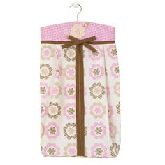 $27.99-$28.00 Baby Sumersault Fiona Diaper Stacker, Pink - FIO24  Features: -Pretty and practical diaper stacker.-Floral print on the bottom.-Yoke with pink floral dot and sweet micro suede appliqu.-Holds 3 dozen diapers.-Comes with a hanger. http://www.amazon.com/dp/B004OEKAI0/?tag=pin2baby-20
