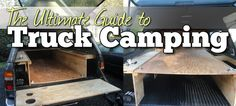 Interested in pickup truck camping and outfitting a truck bed/canopy for camping, living & life on the road? Going for years and thousands of miles now. Pickup Camping, Truck Bed Camping, Truck Tent, Tent Camping, Camping Packing, Camping Style, Family Camping, Outdoor Camping, Backpacking