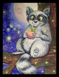 I recently began using guache paints. It's definately different from watercolor, but it's fun to experiment with. This is just a random raccoon character I made up. If I remember correctl...