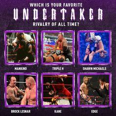 "WWE Network on Instagram: ""Try to pick just 1️⃣ ... #TheLastRide #ThankYouTaker @undertaker"" Shawn Michaels, Brock Lesnar, Triple H, Undertaker, Wwe, All About Time, Instagram"